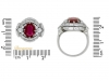 size view Burmese ruby and diamond cluster ring