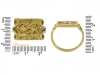 size view Early Byzantine gold marriage ring, circa 4th century AD. berganza hatton garden