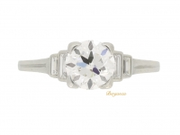front view Tiffany & Co. solitaire diamond engagement ring
