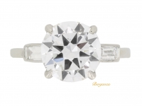 front view Cartier solitaire diamond engagement ring