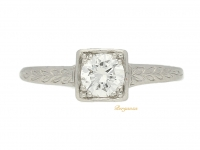 front view Tiffany & Co. Art Deco solitaire diamond ring