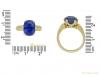 size Antique Ceylon sapphire gold ring hatton garden berganza