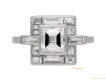 alt='front view Art Deco diamond ring, circa 1930. berganza hatton garden'