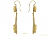 side view Egyptian Revival micro mosaic earrings berganza hatton garden