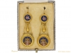 boxed view Egyptian Revival micro mosaic earrings berganza hatton garden