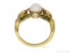 back view Art Nouveau opal ruby diamond ring berganza hatton garden