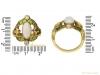 size view Art Nouveau opal ruby diamond ring berganza hatton garden