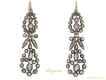 alt='front view Victorian rose cut diamond drop earrings berganza hatton garden'