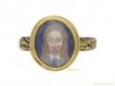 alt='front view Charles I memorial skull ring English berganza hatton garden'