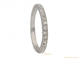 front view antique diamond eternity ring berganza hatton garden