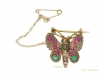 front view antique butterfly brooches hatton garden berganza