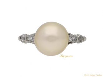front antique pearl diamond ring berganza hatton garden