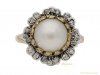 front_pearl diamond floral cluster ring berganza hatton garden