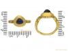 size view Medieval sapphire ring berganza hatton garden