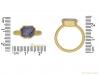 size view Post Medieval gold Sapphire ring berganza hatton garden