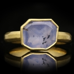 Post Medieval sapphire ring, circa 17th century AD.
