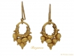 alt='front ancient gold earrings berganza hatton garden'
