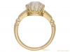 back view antique diamond gold ring berganza hatton garden