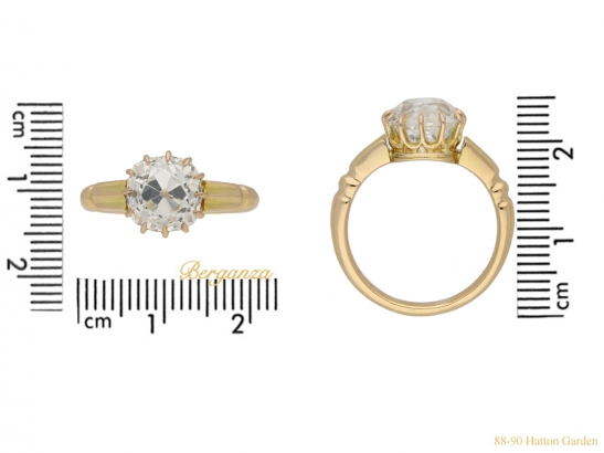 size view antique diamond gold ring berganza hatton garden