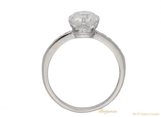 back antique diamond engagement ring hatton garden berganza
