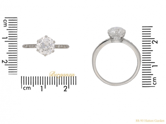 size antique diamond engagement ring hatton garden berganza