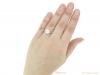 hand antique diamond engagement ring hatton garden berganza