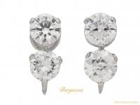 front vintage Tiffany diamond earrings berganza hatton garden