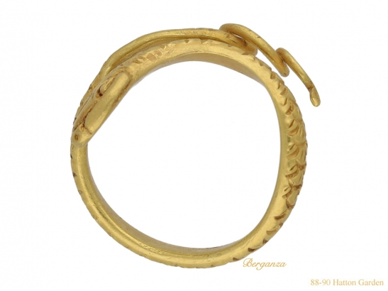 back Ancient Egyptian snake ring berganza hatton garden