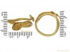 size Ancient Egyptian snake ring berganza hatton garden