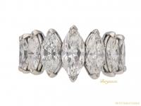 front Oscar Heyman marquise diamond ring berganza hatton garden