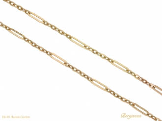 front antique gold chain berganza hatton garden
