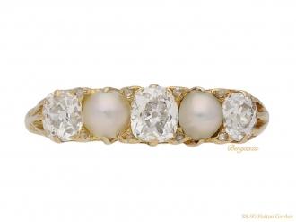 front antique pearl diamond ring hatton garden berganza