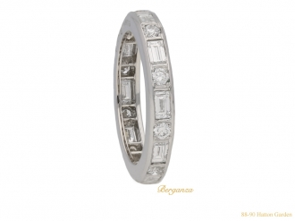 front Oscar Heyman diamond eternity ring berganza hatton garden`