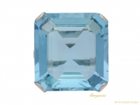 front Art Deco aquamarine ring berganza hatton garden