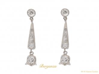 front antique earrings diamond hatton garden berganza