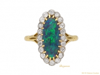 front antique diamond opal ring hatton garden berganza