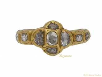 front early rose cut diamond ring berganza hatton garden