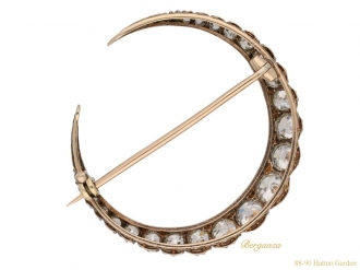 front antique diamond crescent brooch berganza hatton garden