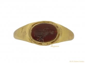front ancient roman intaglio ring hatton garden berganza