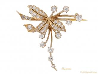 front antique diamond gold brooch hatton garden berganza