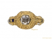 front Renaissance rose cut diamond ring berganza hatton garden