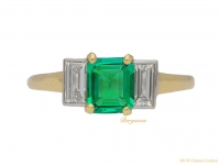 front art deco emerald diamond ring hatton garden berganza