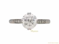 front antique diamond engagement ring hatton garden berganza