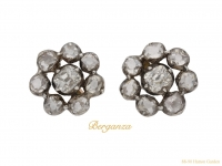 front Georgian diamond cluster earrings berganza hatton garden