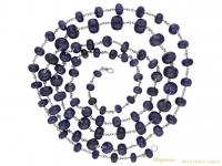 vintage sapphire bead necklace berganza hatton garden