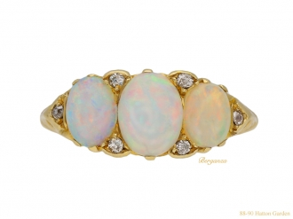 front antique opal diamond ring berganza hatton garden