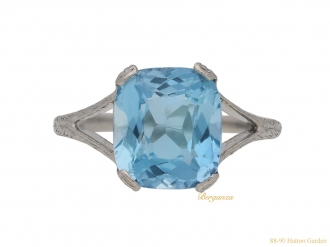 front antique aquamarine ring berganza hatton garden