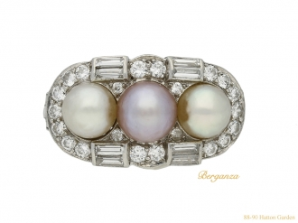 front vintage pearl diamond ring berganza hatton garden