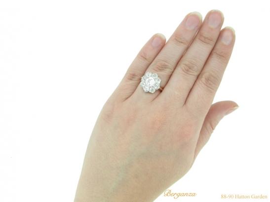 hand0antique diamond cluster ring hatton garden berganza