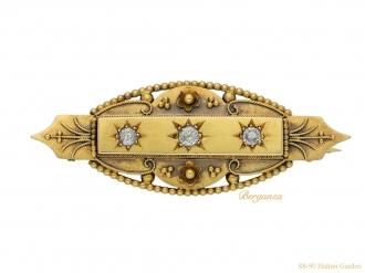 front antique diamond gold brooch berganza hatton garden